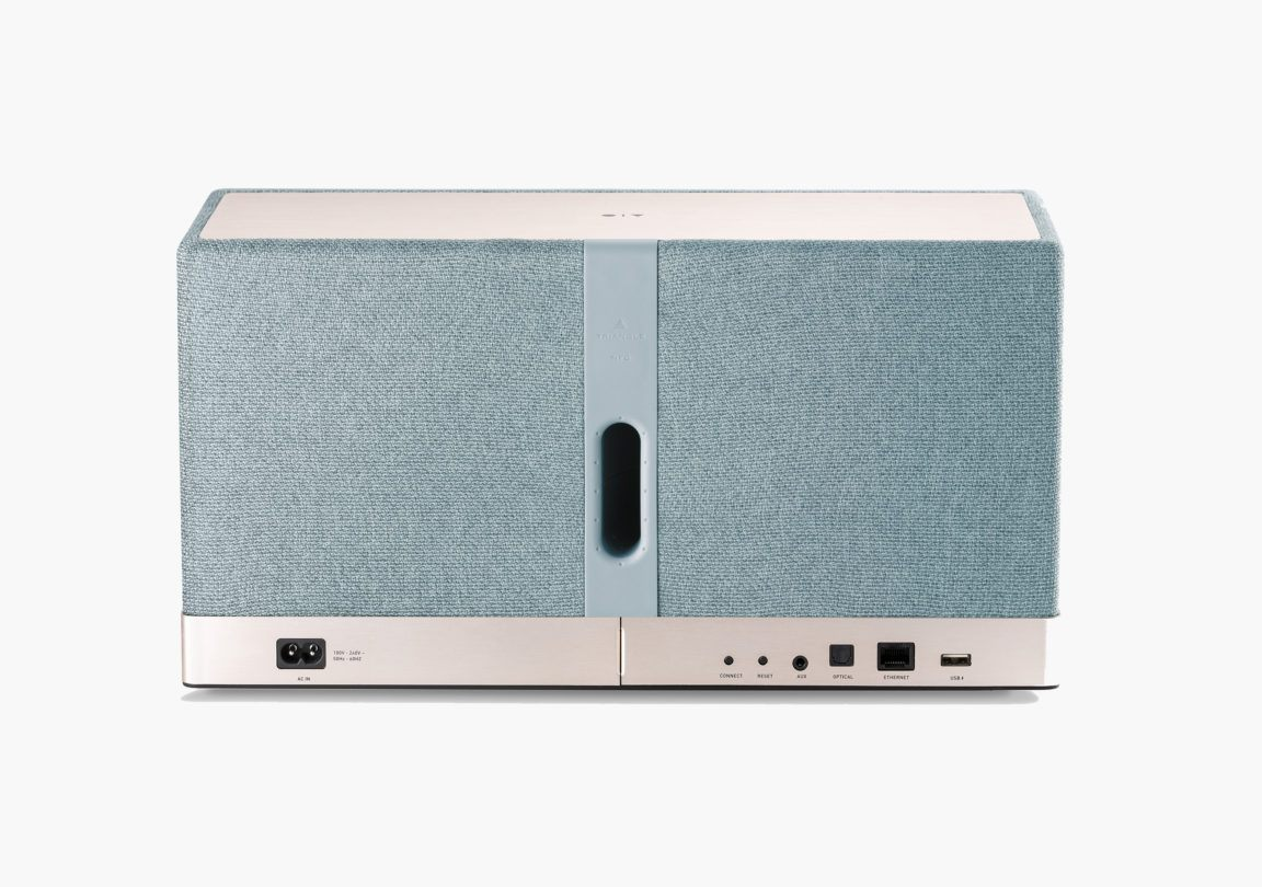 Enceinte connectée bluetooth wifi hifi triangle AIO3 bleu packshot 02