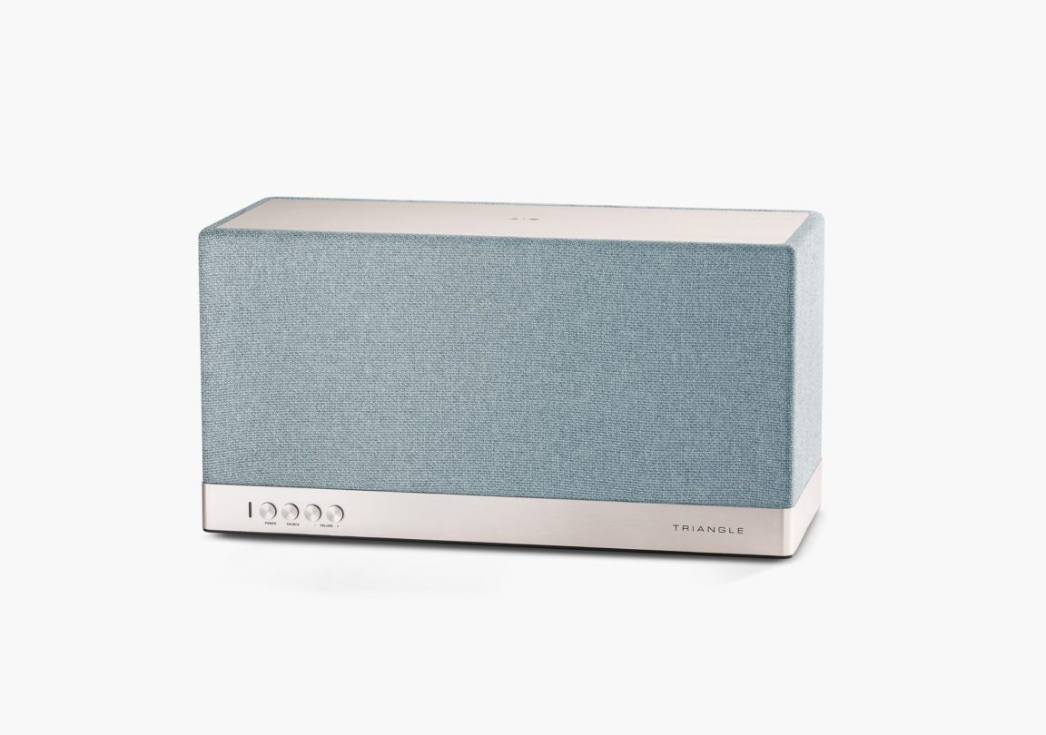 Enceinte connectée bluetooth wifi hifi triangle AIO3 bleu packshot 1