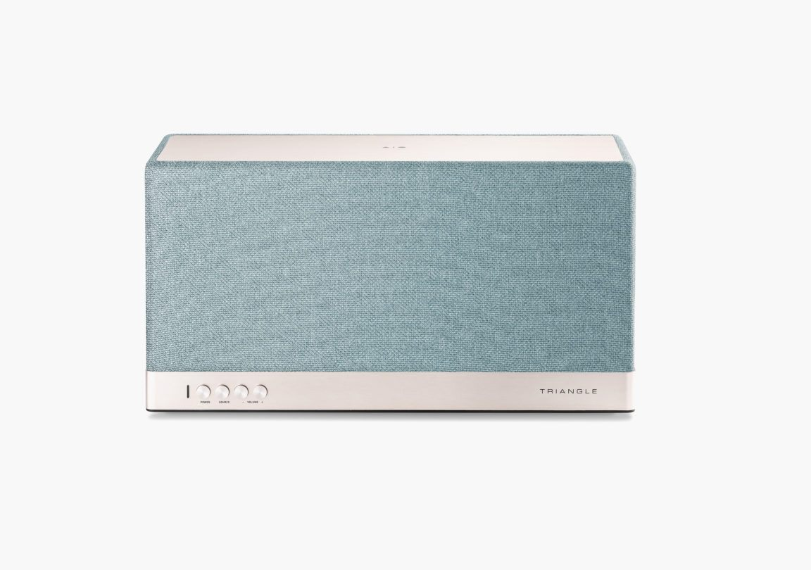 Enceinte connectée bluetooth wifi hifi triangle AIO3 bleu packshot 2