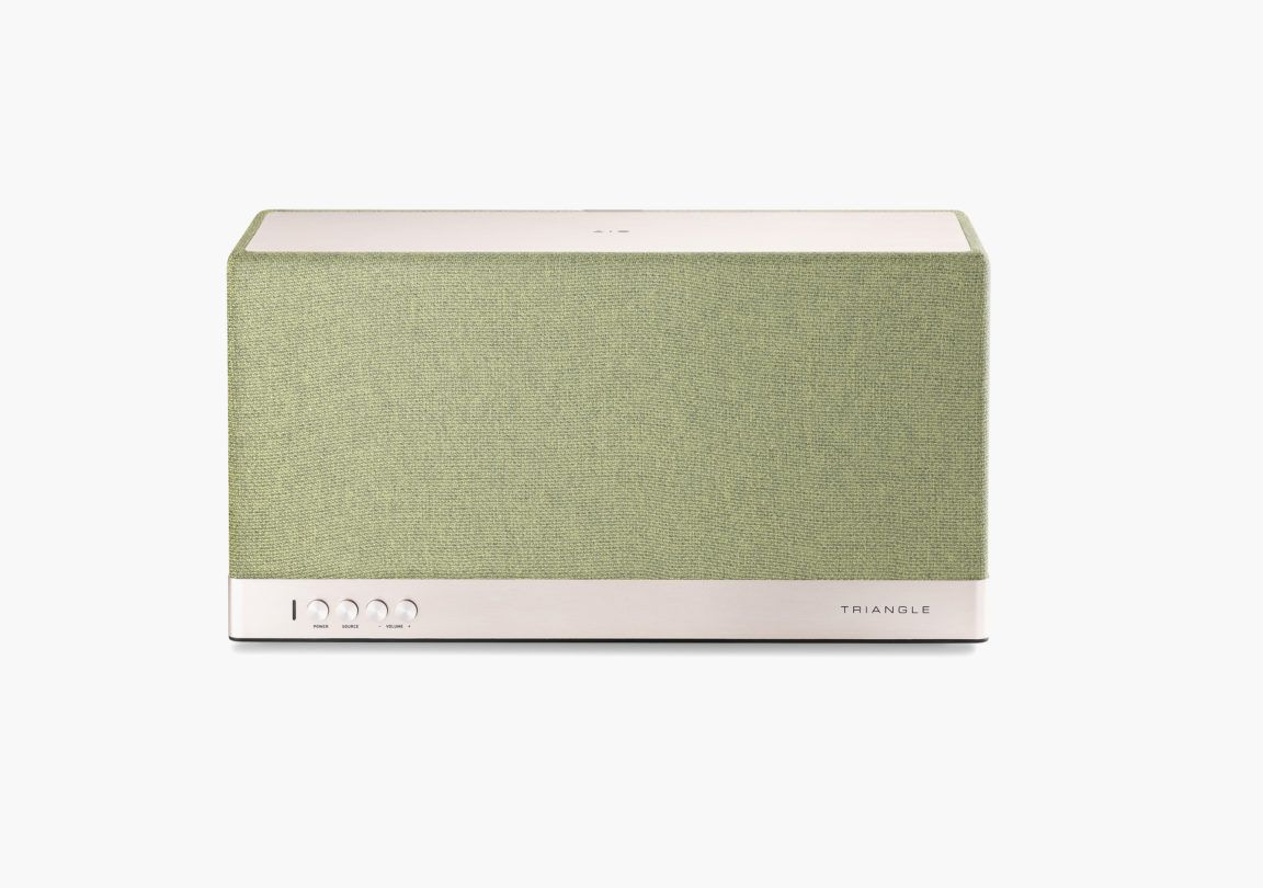 Enceinte connectée bluetooth wifi hifi triangle AIO3 vert packshot 1