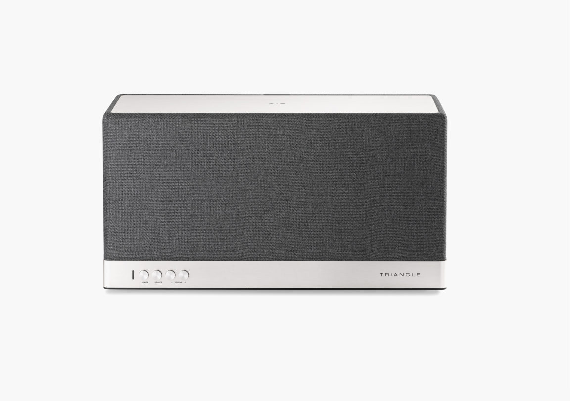 Enceinte connectée bluetooth wifi hifi triangle AIO3 gris ardoise 3
