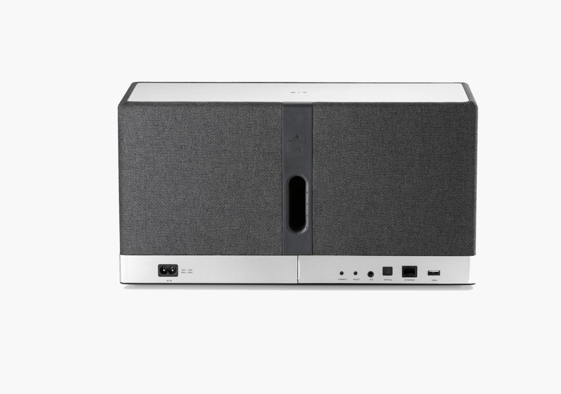 Enceinte connectée bluetooth wifi hifi triangle AIO3 gris ardoise packshot 02