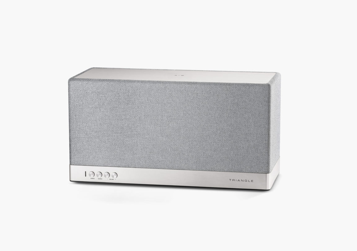 Enceinte connectée bluetooth wifi hifi triangle AIO3 gris packshot 1