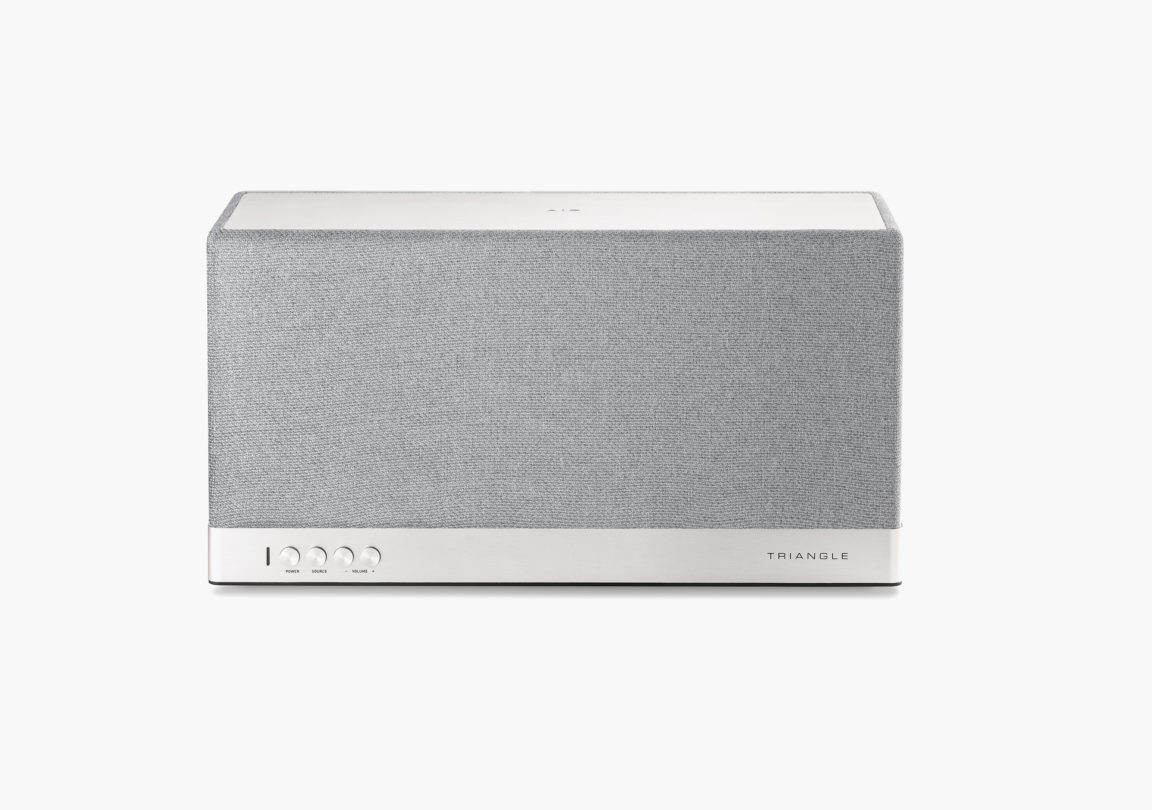 Enceinte connectée bluetooth wifi hifi triangle AIO3 gris packshot 2