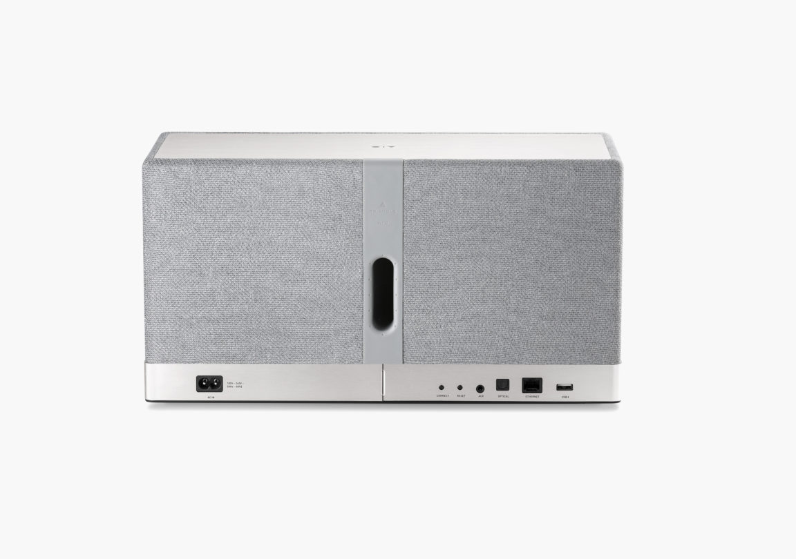 Enceinte connectée bluetooth wifi hifi triangle AIO3 gris packshot 3