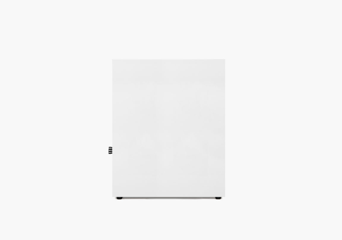 Enceinte hifi Bibliothèque triangle Borea BR03 blanc packshot 3