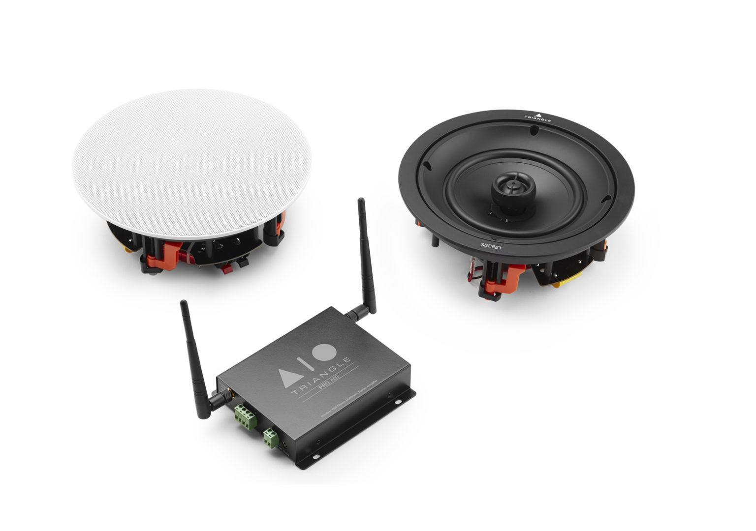 Système Enceinte connectée bluetooth wifi hifi triangle AIO Pro a50 secret packshot gamme