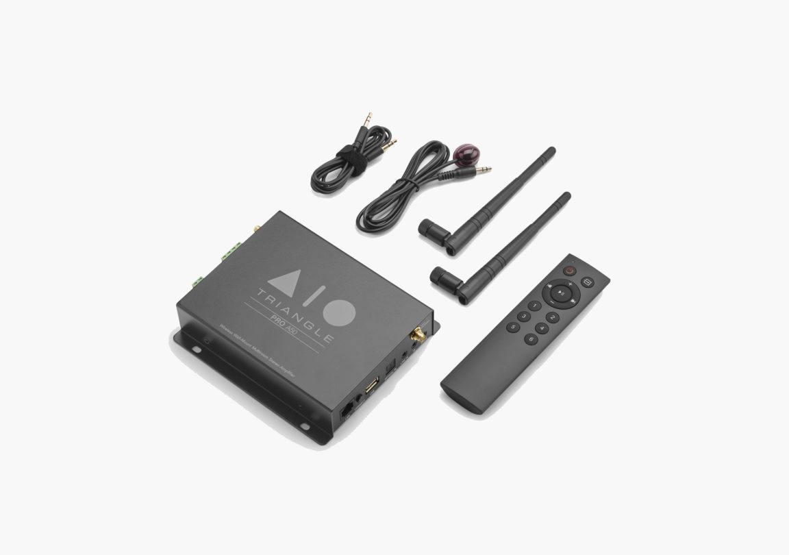 Système Enceinte connectée bluetooth wifi hifi triangle AIO Pro A50 packshot 03