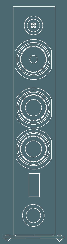 enceinte hifi colonne triangle esprit ez antal vector