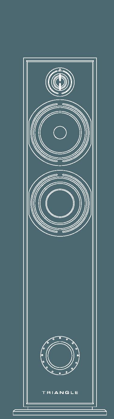 enceinte hifi colonne triangle borea br07 vector