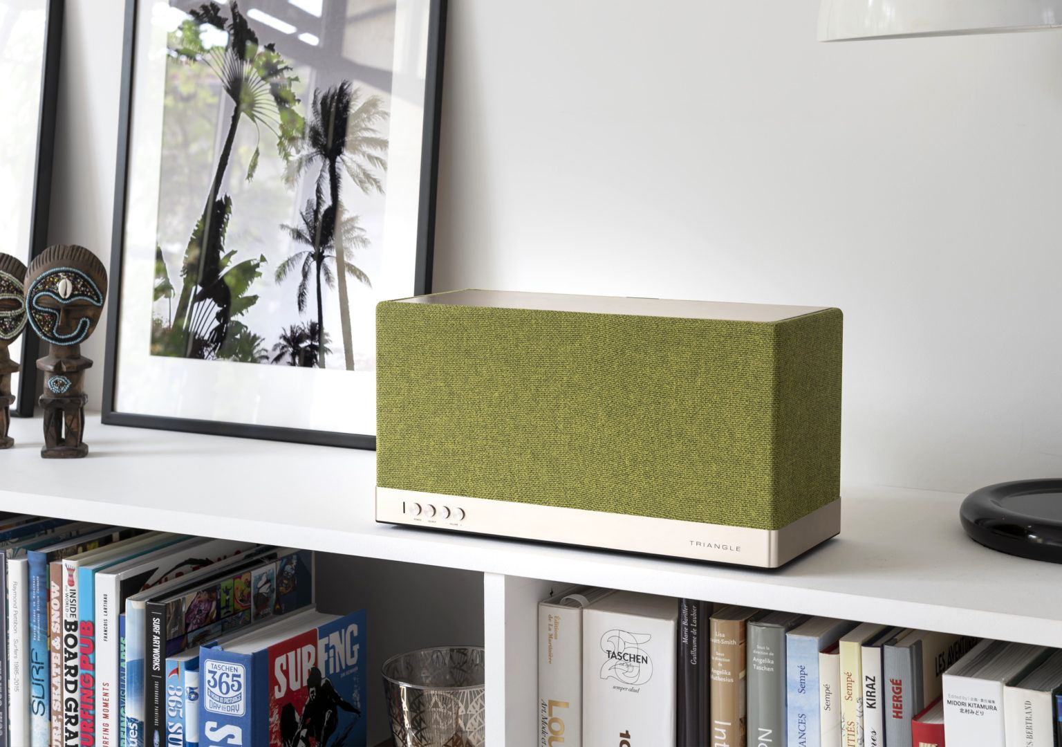 Enceinte connectée bluetooth wifi hifi triangle AIO3 vert lifestyle 04