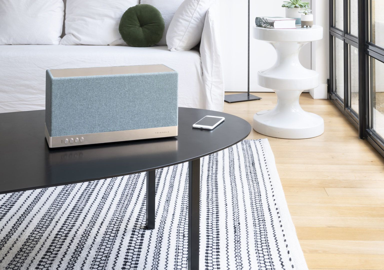 Enceinte connectée bluetooth wifi hifi triangle AIO3 bleu lifestyle 03