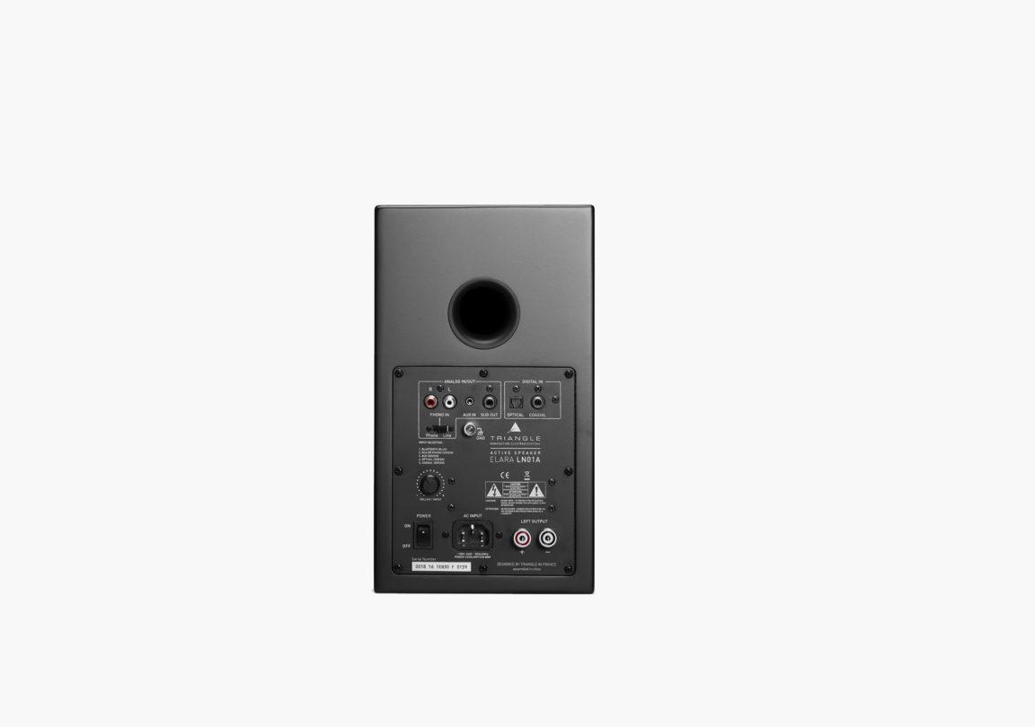enceinte connectée hifi bibliothèque triangle active series ln01A noir packshot 02