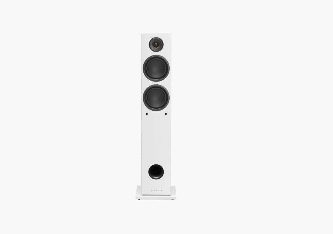 enceinte connectée hifi colonne triangle active series ln05A blanc packshot 02