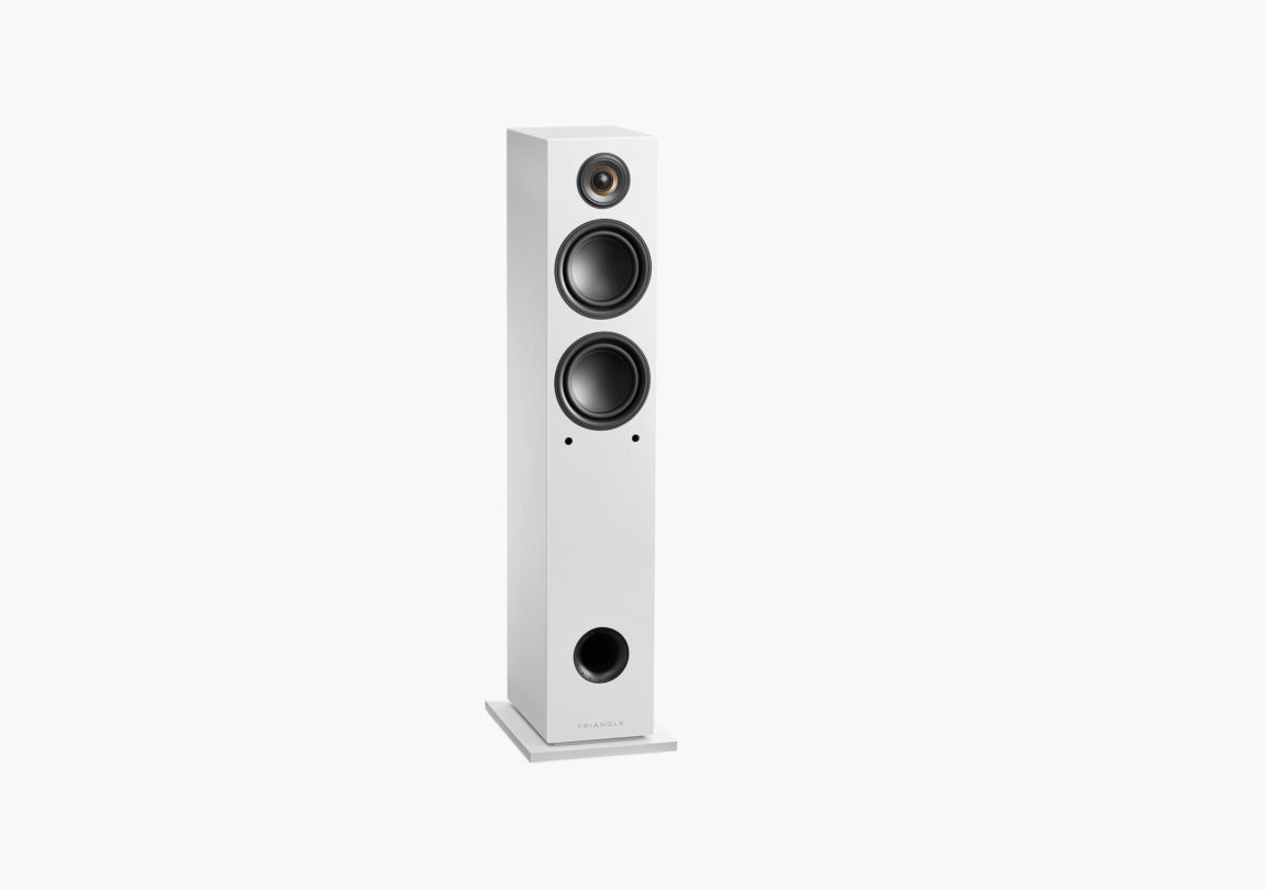 enceinte connectée hifi colonne triangle active series ln05A blanc packshot 04