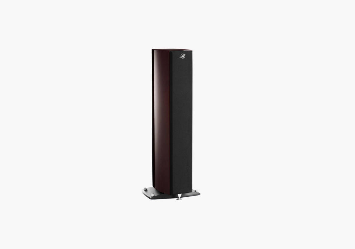 Enceinte hifi Colonne triangle Magellan Cello acajou packshot 02