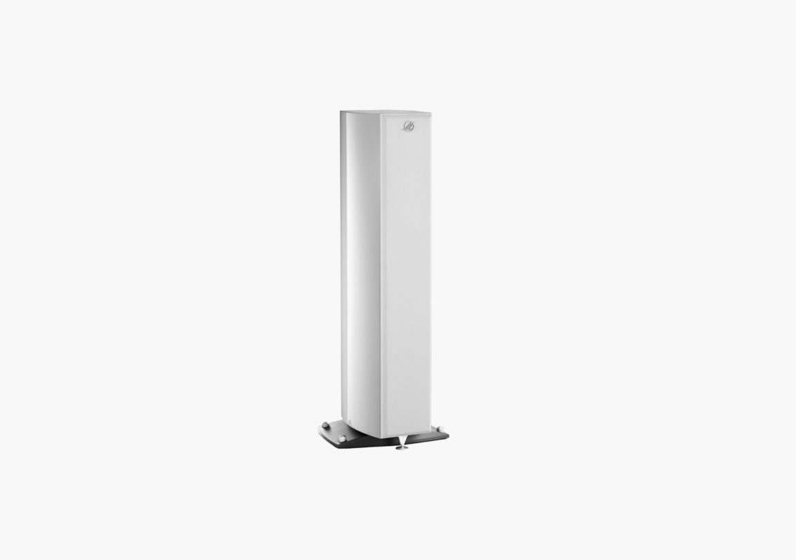 Enceinte hifi Colonne triangle Magellan Cello blanc packshot 02