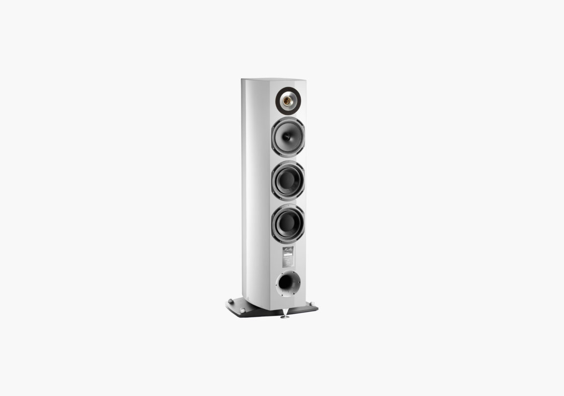 Enceinte hifi Colonne triangle Magellan Cello blanc packshot 01