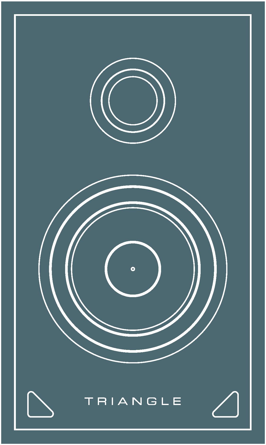 enceinte hifi bibliotheque triangle sensa vector