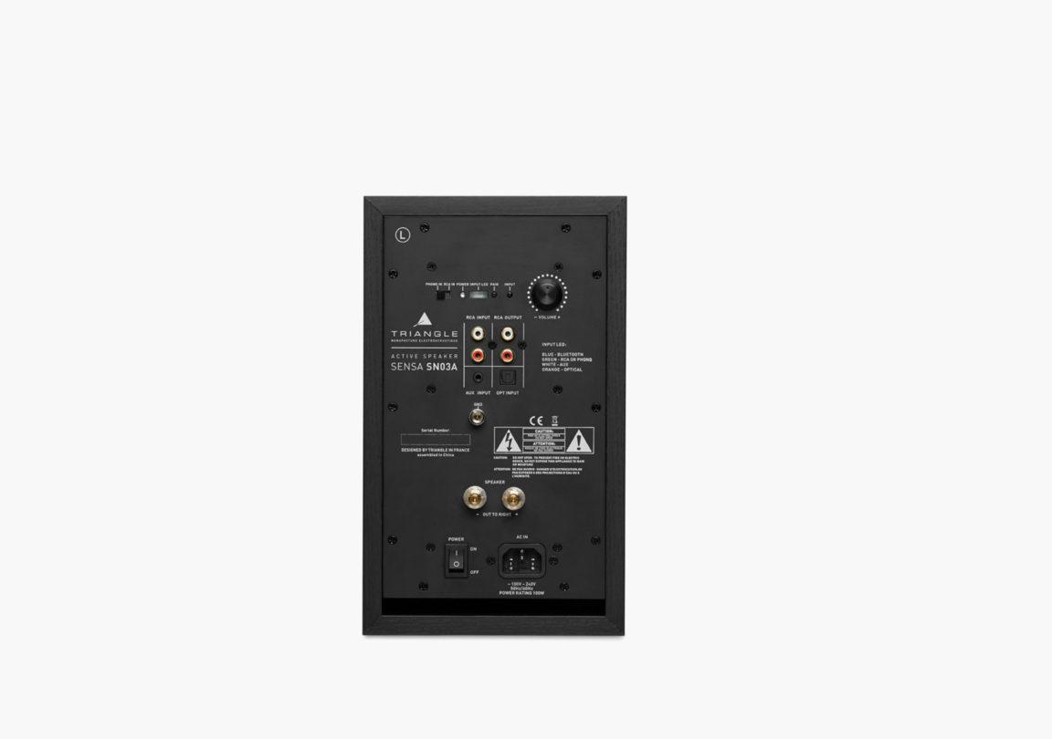 enceinte connectée bluetooth wifi hifi triangle sensa noir sn03A packshot 03