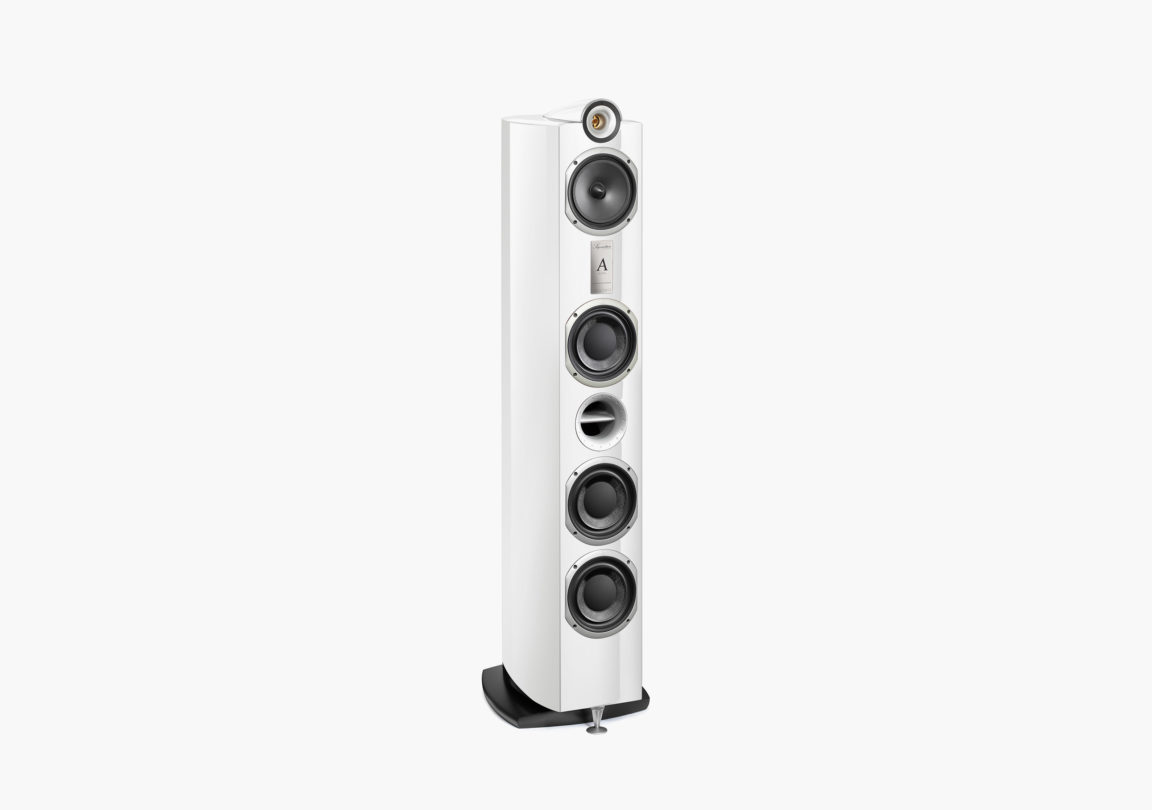 Enceinte hifi Colonne triangle signature alpha blanc packshot 01