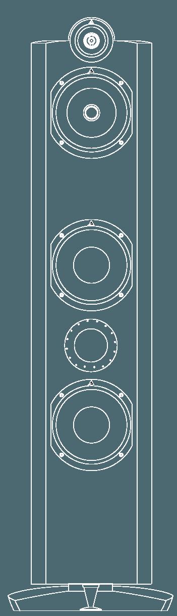 enceinte hifi colonne triangle signature delta vector