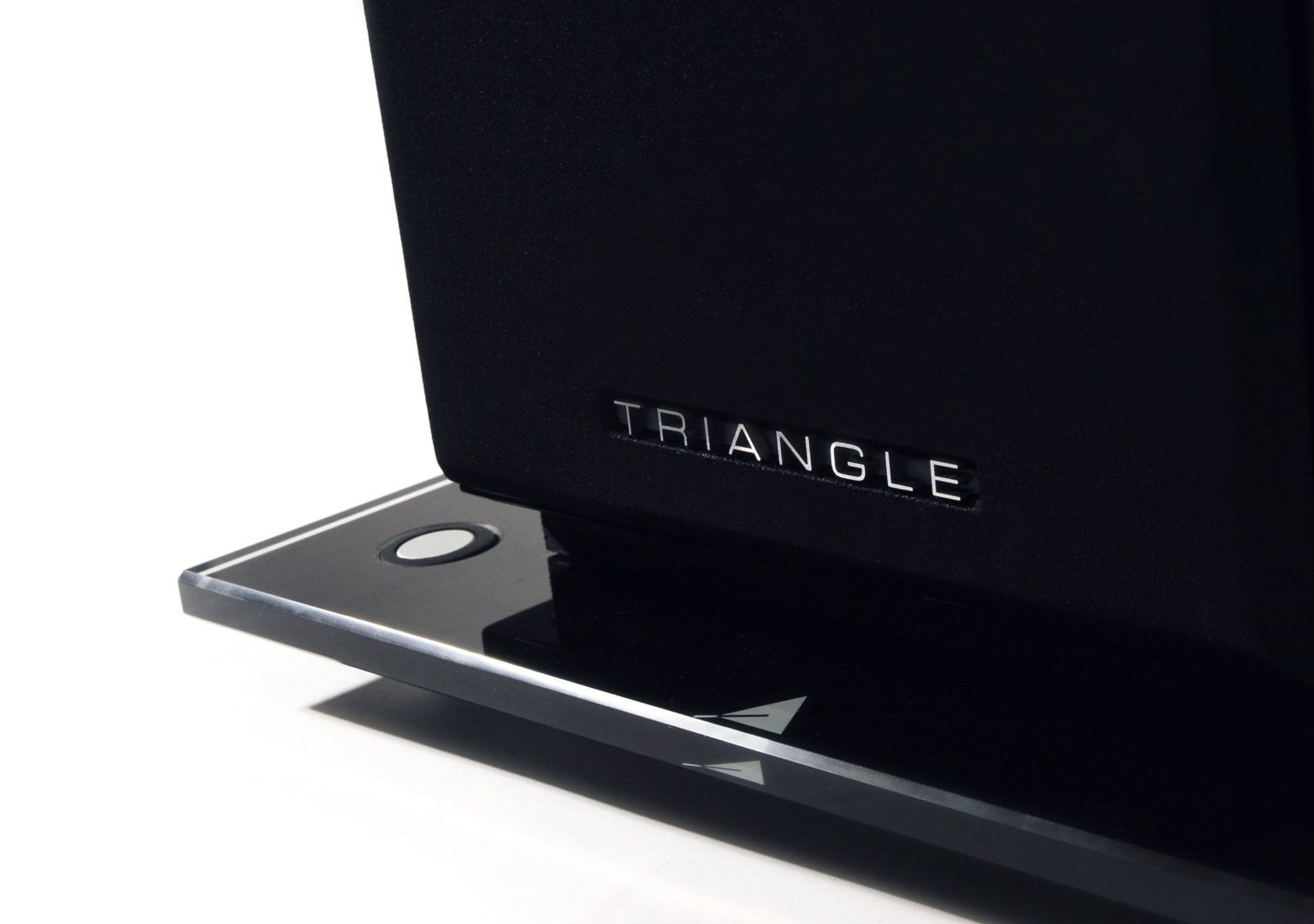 support enceinte verre triangle packshot