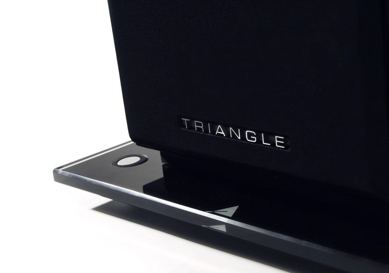 support enceinte verre triangle packshot