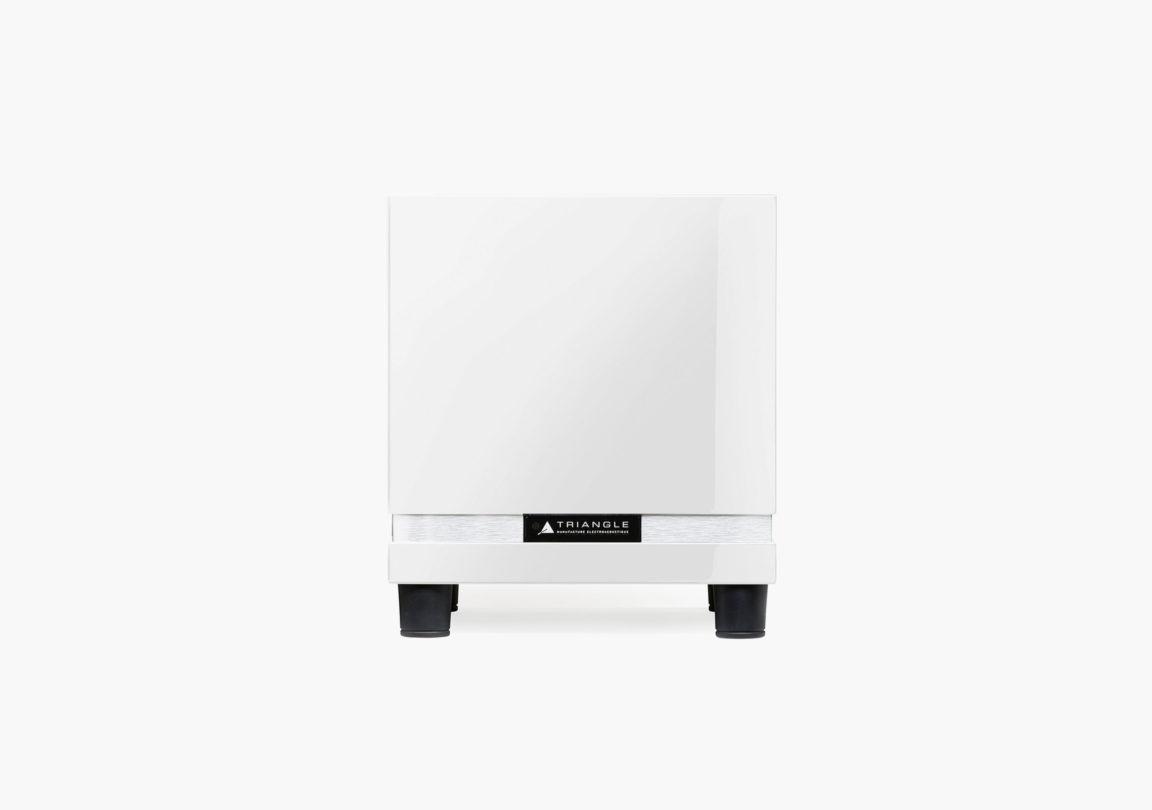 caisson de basses hifi home cinéma triangle thetis280 blanc packshot 01