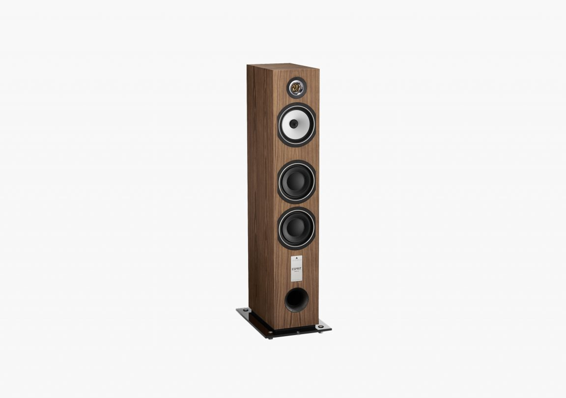 Enceinte hifi colonne triangle esprit ez antal erable brun brown maple packshot 01