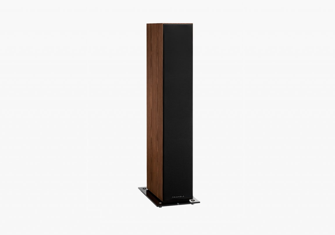 Enceinte hifi colonne triangle esprit ez australe erable brun brown maple packshot 04
