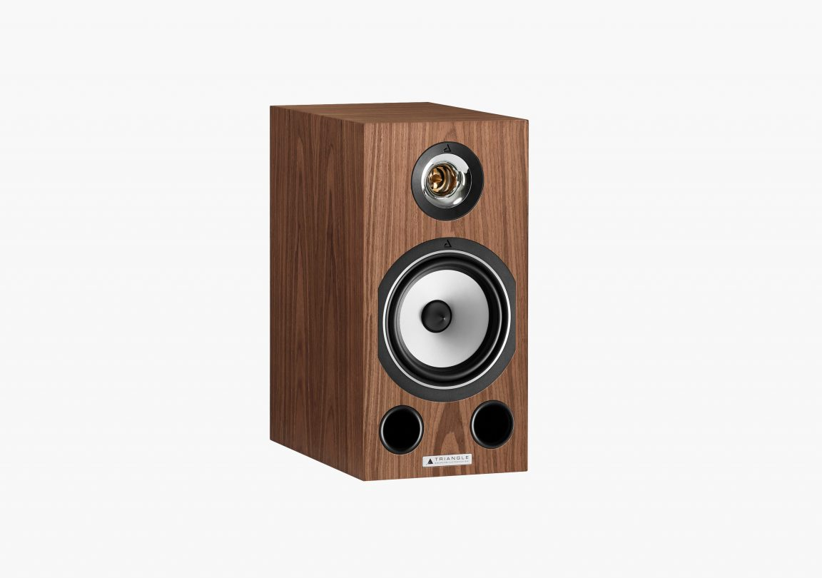 Enceinte hifi bibliothèque triangle esprit ez comete erable brun brown maple packshot 01