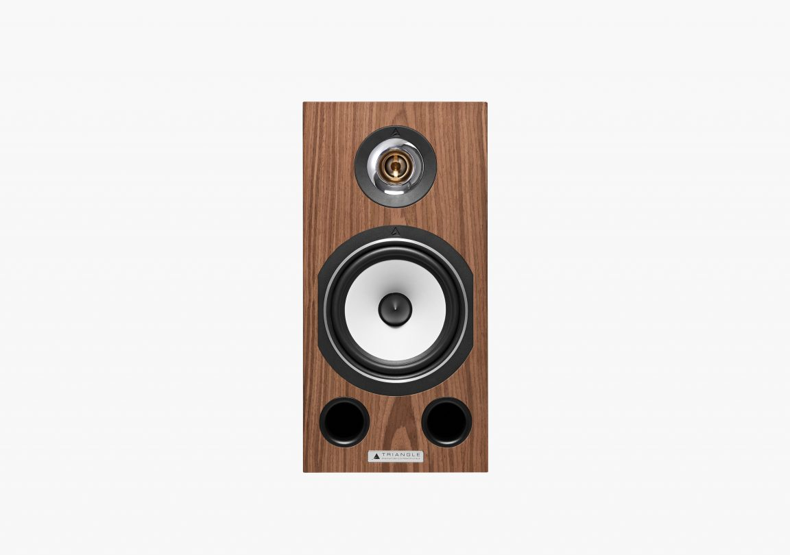 Enceinte hifi bibliothèque triangle esprit ez comete erable brun brown maple packshot 02