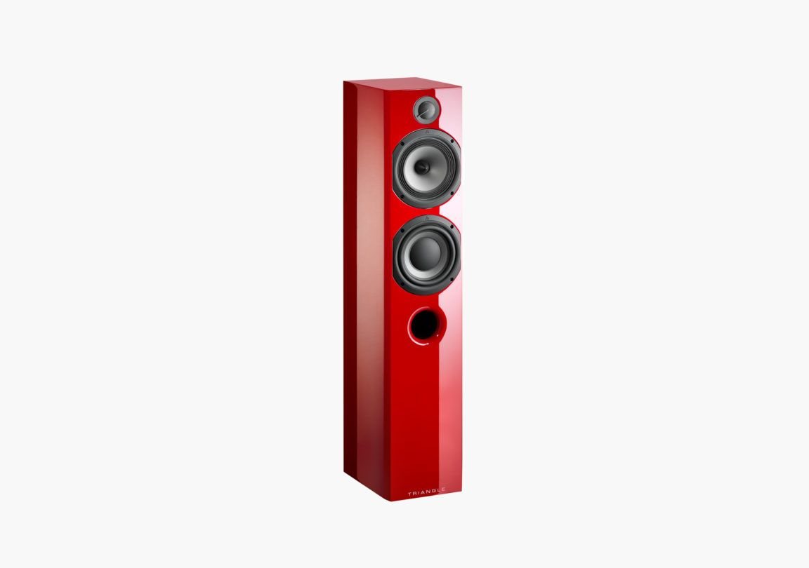 Enceinte hifi colonne triangle color rouge colonne packshot 01