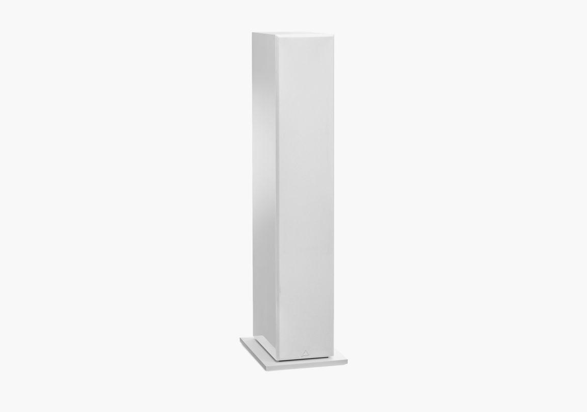 Enceinte hifi colonne triangle Elara LN05 blanc packshot 1