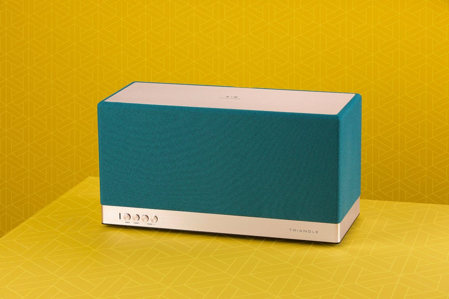 Triangle wireless speaker AIO 3 Limited Edition Emerald blue beautyshot en
