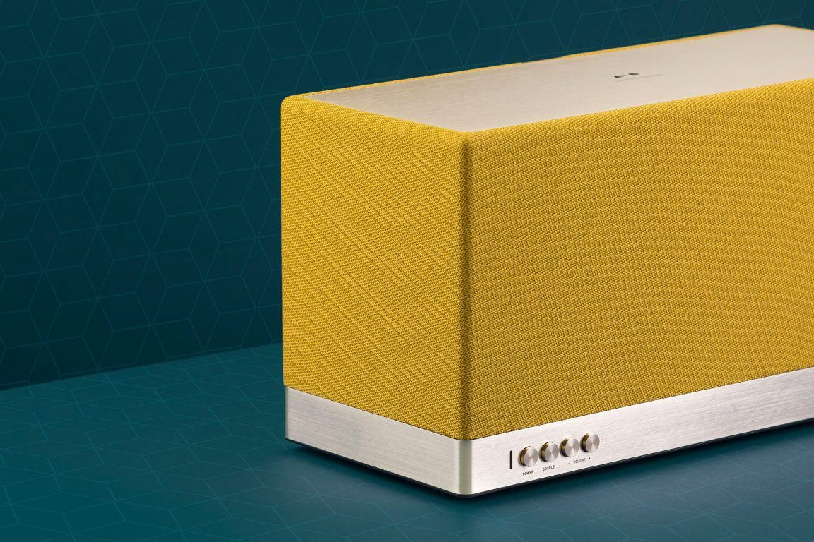 Triangle wireless speaker AIO 3 Limited Edition Mustard Yellow beautyshot en