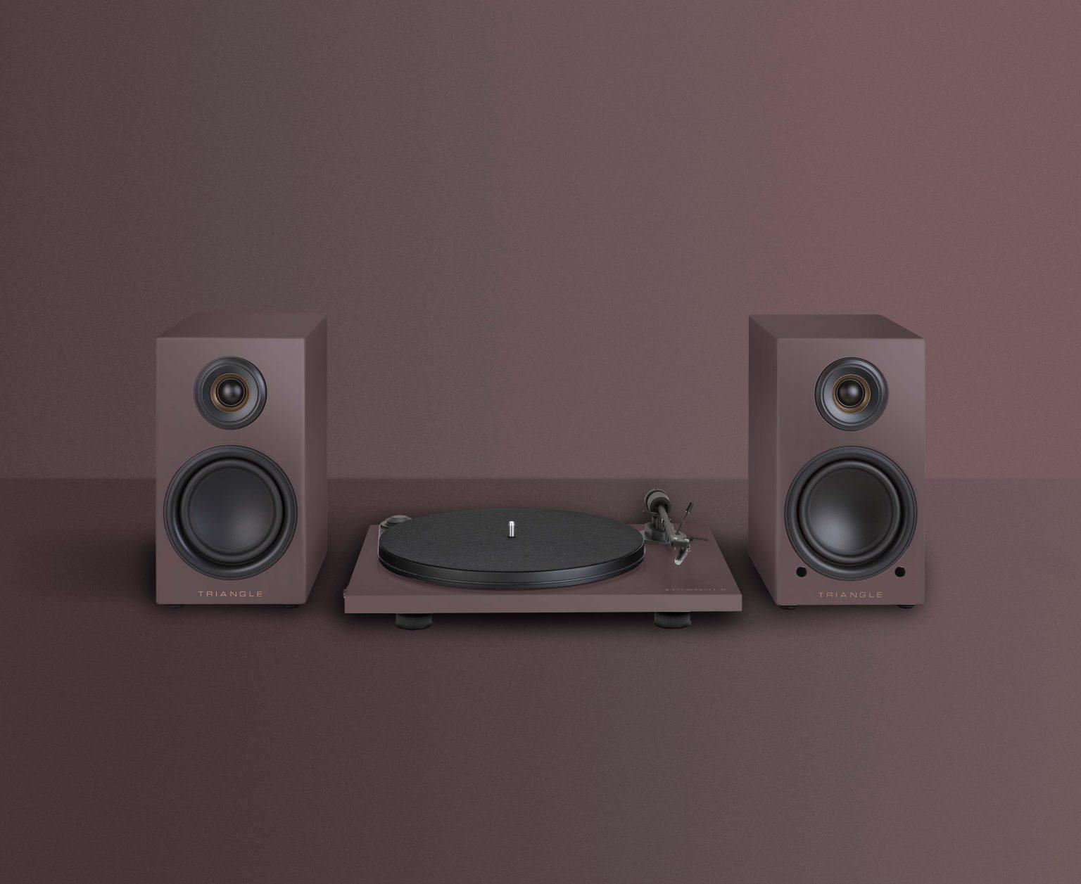 platine vinyle hifi triangle active series ln01A aubergine packshot gamme