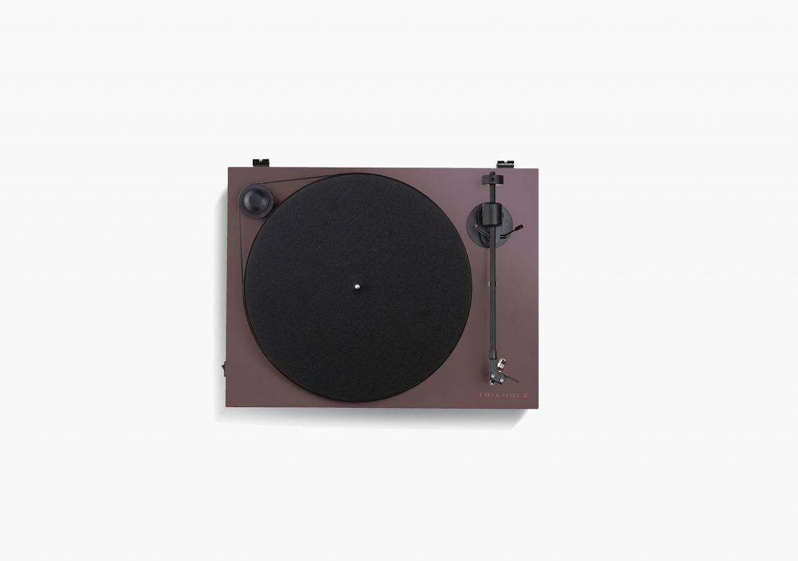platine vinyle hifi triangle active series ln01A aubergine packshot 02