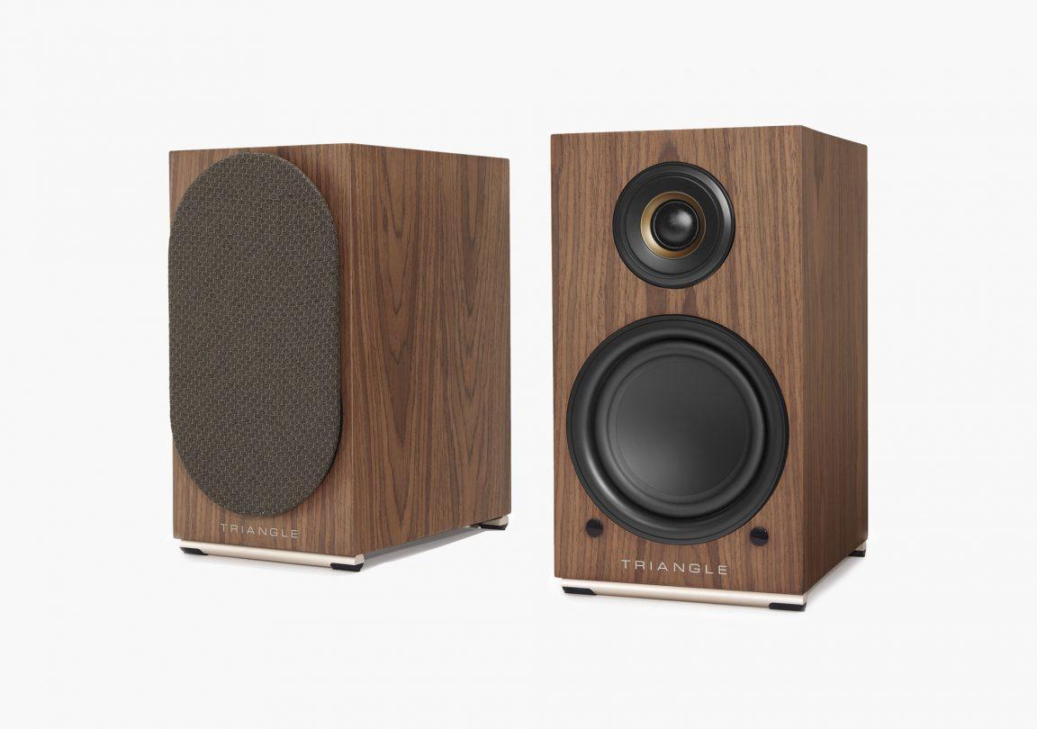 AIO TWIN speaker brown maple triangle hifi