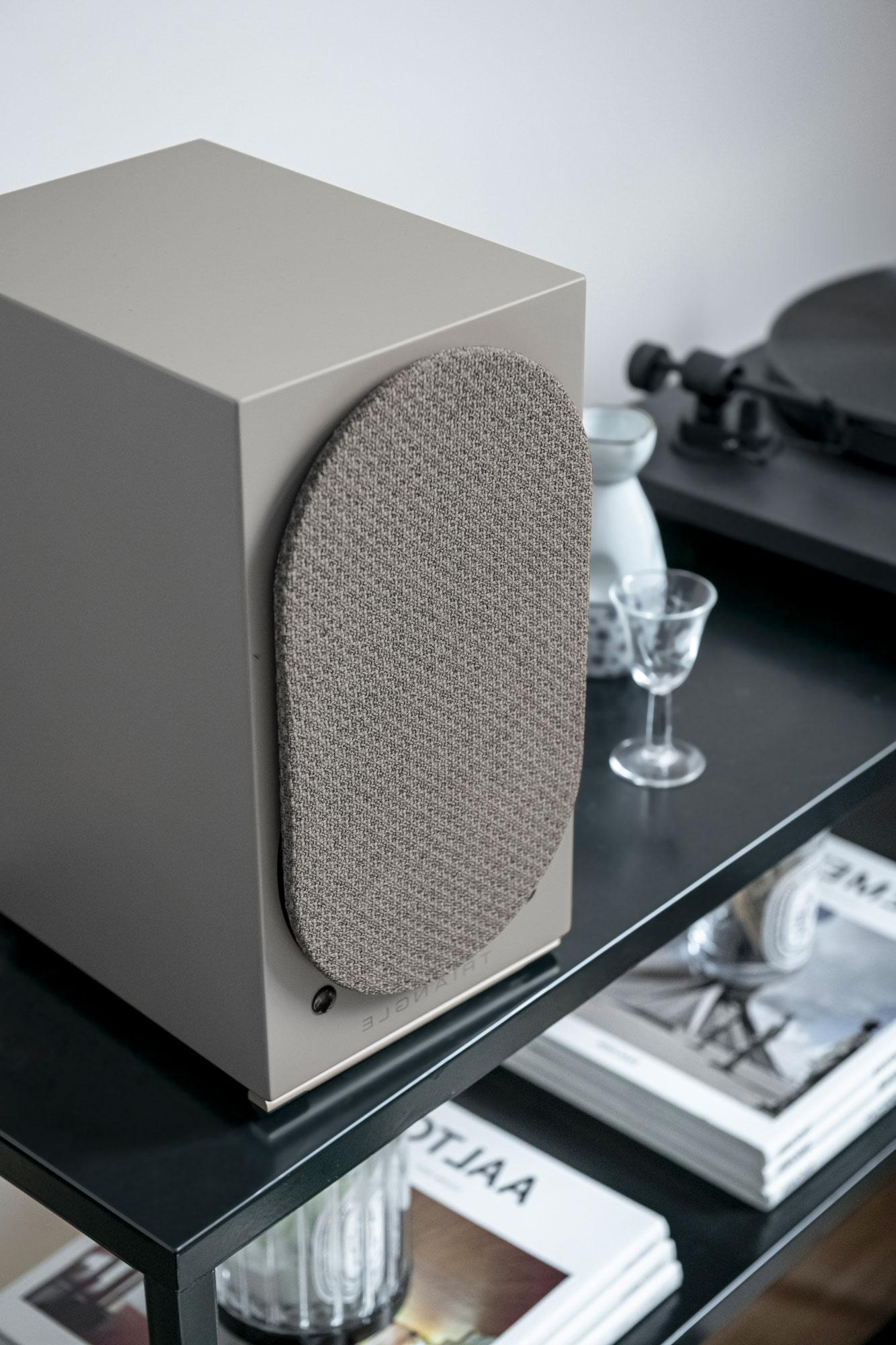 AIO TWIN speaker linen grey triangle hifi